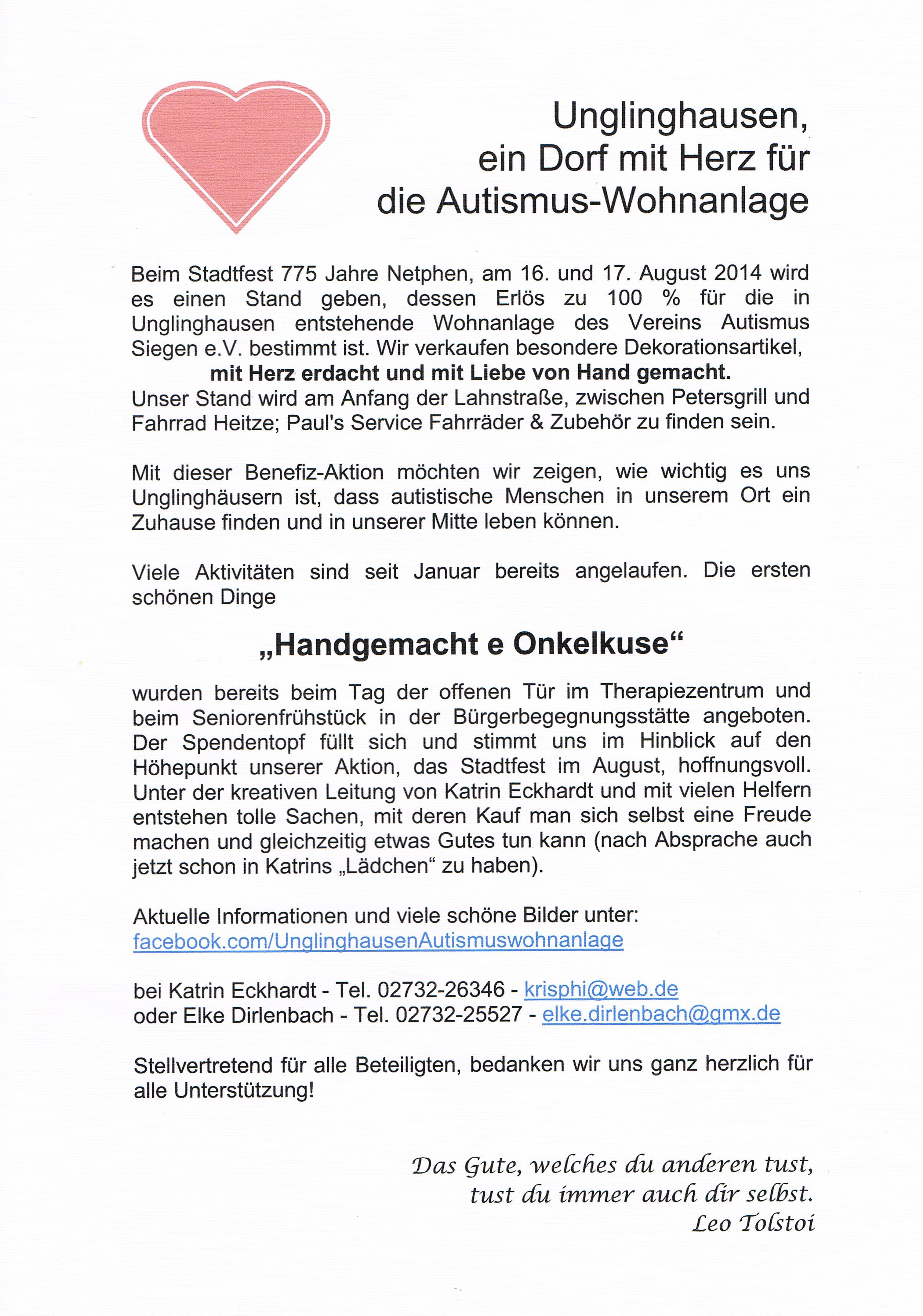 Unglinghausen – ein Dorf mit Herz für Autismus   Unglinghausen.de