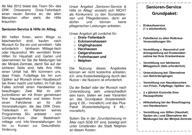 Senioren-Service, Deutsches Rotes Kreuz