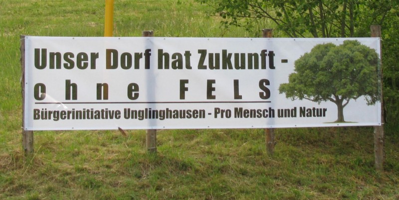 Banner Bürgerinitiative Pro Mensch und Natur